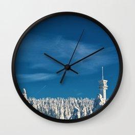 Winter Wonderland - Czechoslovakia Forest Photographic Wall Clock