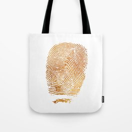 Gold Fingerprint Tote Bag