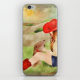 Cowgirl and Her Dog iPhone Skin