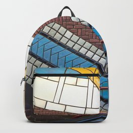 Detroit People Mover Art Times Square Backpack