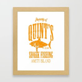 Quints Shark Fishing Amity Island Framed Art Print