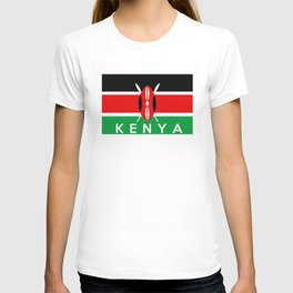 Kenya country flag name text T-shirt
