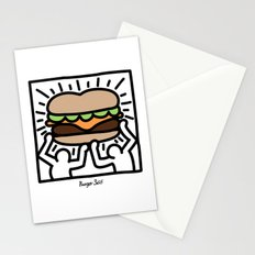 Pop Art Burger #1 Stationery Cards