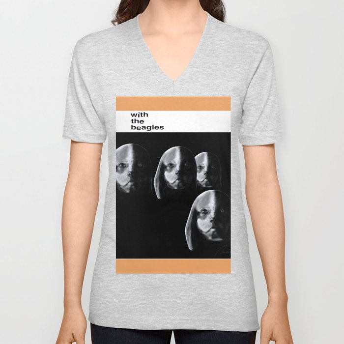 With the Beagles Unisex V-Neck