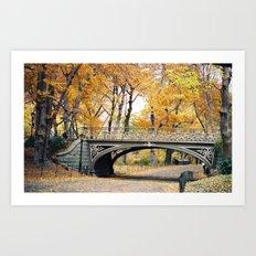 Autumn in New York City Central Park Art Print