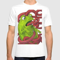 Frogs eat Insects MEDIUM White Mens Fitted Tee