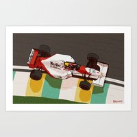 senna Art Prints featuring Senna by Bruno Gabrielli