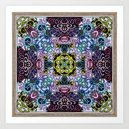 Colorful Mandala - type 2 Art Print