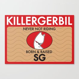 Killer Gerbil Red Tubing Canvas Print