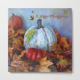 Happy Thanksgiving - Seasonal Art Metal Print