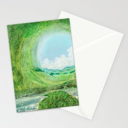 The world is round Stationery Cards