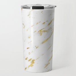 Vasia gold marble Travel Mug