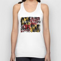maryland Tank Tops featuring Maryland Flag Print by david zobel