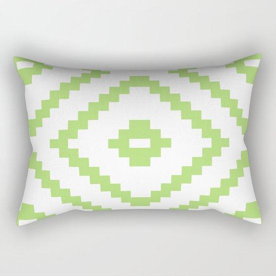 green pattern Rectangular Pillow