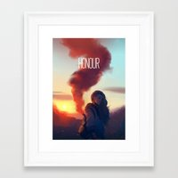 zuko Framed Art Prints featuring HONOUR by Caleb Thomas