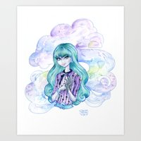 monster high Art Prints featuring Twyla of Monster High  by Christis Imagination