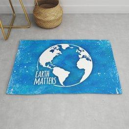 Earth Matters - 01 Blue Watercolors Rug
