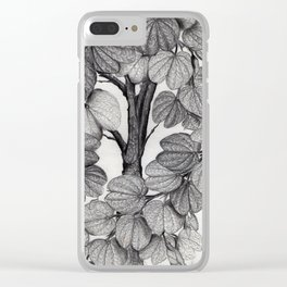 grey leaves Clear iPhone Case