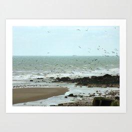 Calais beach, French. Art Print