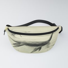 Vintage Print - Extinct Monsters of Other Days (1910) - Pterodactyls, Plesiosaur & Cuttlefish Fanny Pack