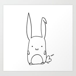 Poot the Bunny Art Print