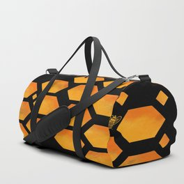 Bee in a Honeycomb Duffle Bag