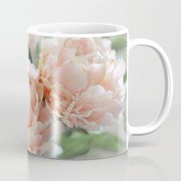 Peach Peonies Coffee Mug