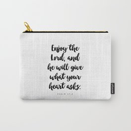 Psalm 37:4 - Bible Verse Carry-All Pouch