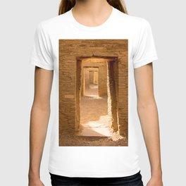 Chaco Ancient Doors Chaco Ancient Holes and a row of doors at Pueblo del Arroyo Scarf T-shirt