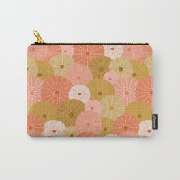 Sea Urchins in Coral + Gold Carry-All Pouch