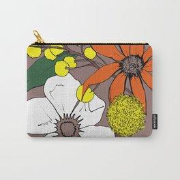 Floral-Mauve Carry-All Pouch