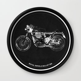 Royal Enfield Bullet 500 - For Some There's Therapy, For The Rest Of Us There's Motorcycles Wall Clock