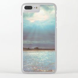 Across The Water Clear iPhone Case