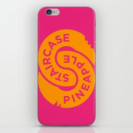 Pineapple Staircase     Official Logo in Pink/Orange iPhone Skin