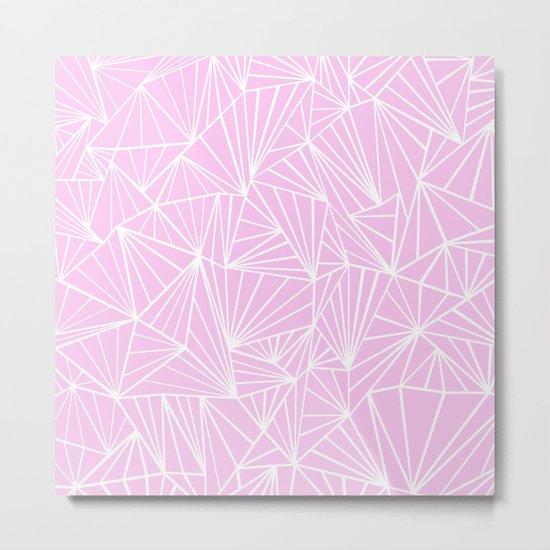 Ab Fan Pink Metal Print