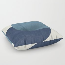 Halfmoon Colorblock - Blue Floor Pillow