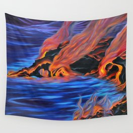 The Dance of Pele & Kanaloa Wall Tapestry