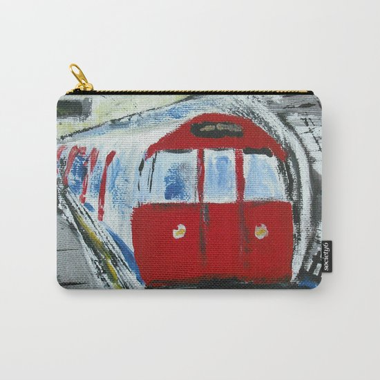 London Underground Acrylic On Canvas Board Fine Art Carry-All Pouch