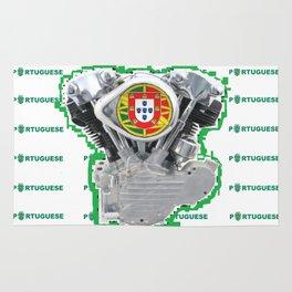 Portuguese Biker soccer fan. Rug