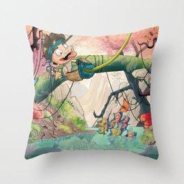 Jungle kid. Throw Pillow