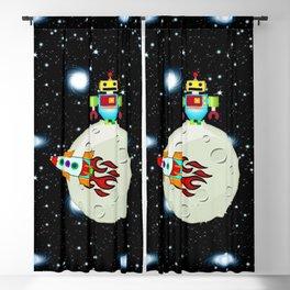 Moon Walk Children's Art Blackout Curtain