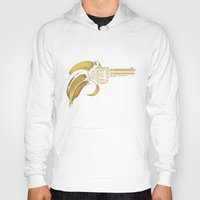 gun Hoodies featuring Banana Gun by Enkel Dika