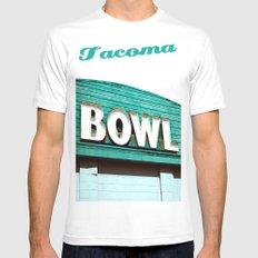 Let's Bowl! White MEDIUM Mens Fitted Tee