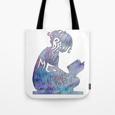 It was Books that Made me Feel Like I was Not Completely Alone Tote Bag