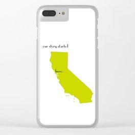 san francisco love Clear iPhone Case