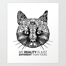 Different Reality Cat Art Print