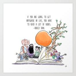 Roald Dahl Day Art Print