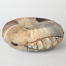 Picasso Stone Skull Floor Pillow