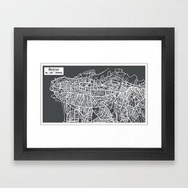 Beirut Lebanon City Map in Retro Style. Framed Art Print