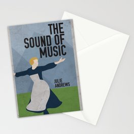 The Sound of Music Staring Julie Andrews Stationery Cards